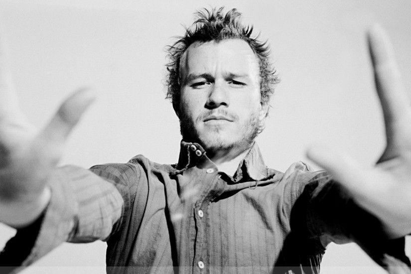 people heath ledger monochrome greyscale 1280x1024 wallpaper Art HD  Wallpaper