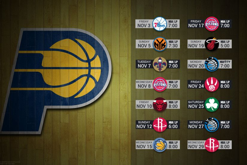 Indiana Pacers 2017 schedule NBA BASKETBALL logo wallpaper free pc desktop  computer