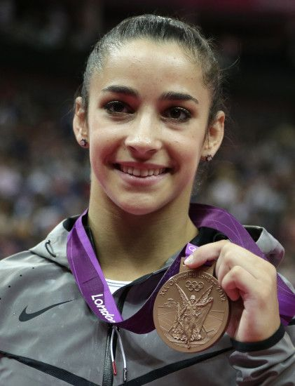 Full View and Download Aly Raisman With Bronze Medal Wallpaper