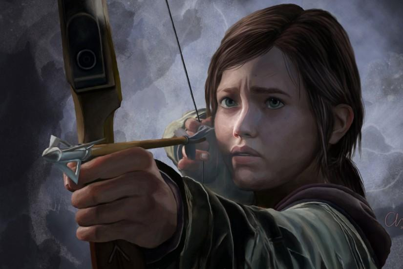 1920x1080 Wallpaper the last of us, ellie, girl, bow, arrow