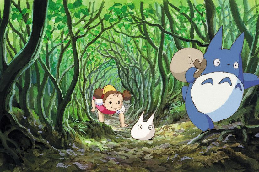 Movie - My Neighbor Totoro Mei Kusakabe Mini Totoro (My Neighbor Totoro)  Wallpaper