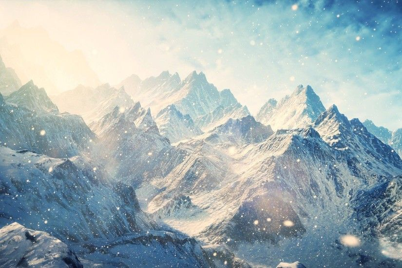 Winter Mountains With Snow HD Wallpaper. « »
