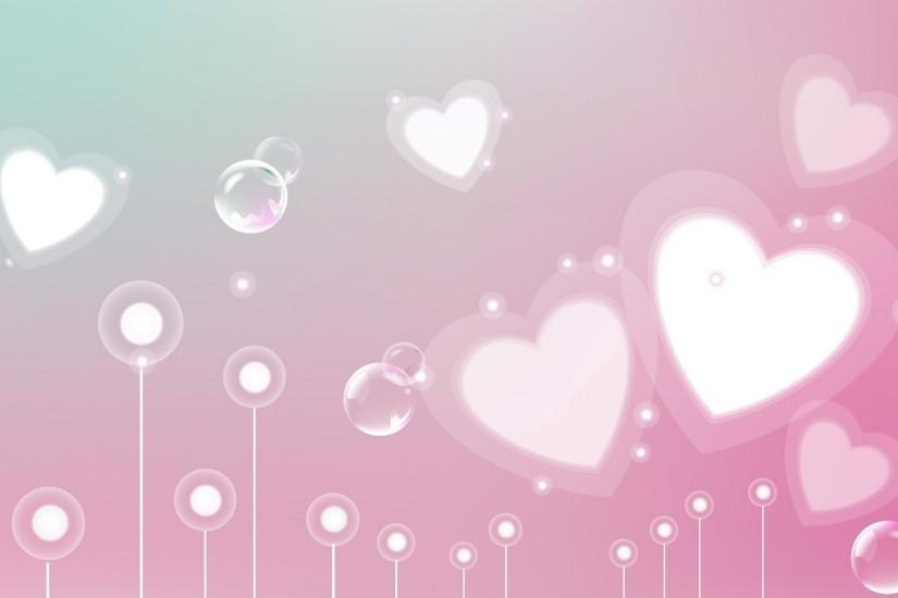 Beautiful Pink Heart Background | HD Wallpapers