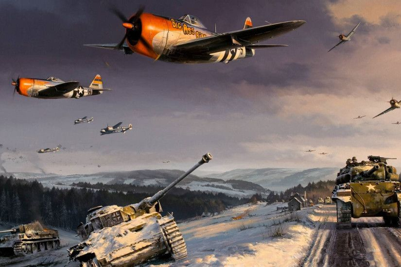 paintings aircraft war world war ii artwork realistic 1280x800 .