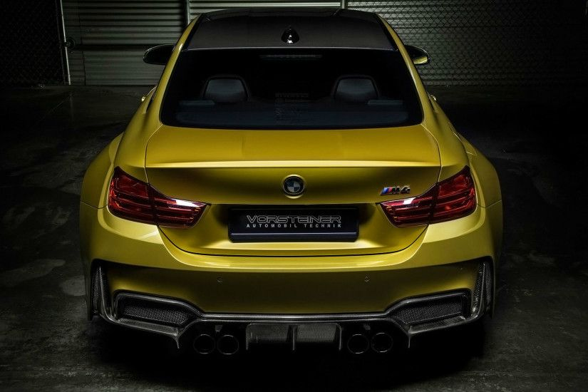 BMW ///M images BMW M4 Vorsteiner (Golden) Rear View HD wallpaper and  background photos