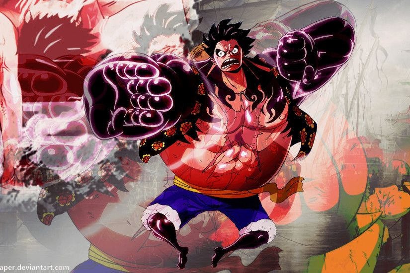 Luffy Gear 4 Wallpaper - @kingwallpaper by Kingwallpaper on DeviantArt