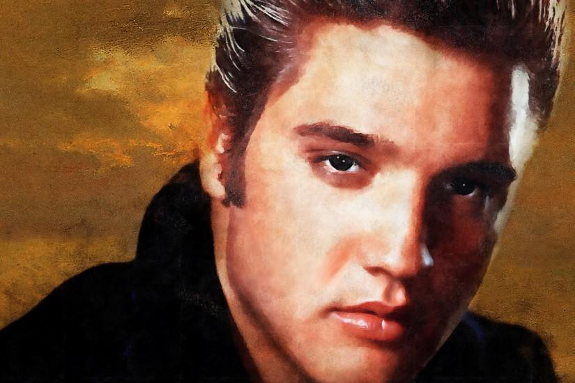 Preview wallpaper elvis presley, rock and roll, musician, art 3840x2160