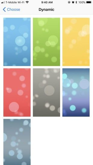 In the Dynamic wallpaper category, there have been zero changes from iOS 10  to iOS 11. You still have the same seven options: bubbles bouncing around  your ...