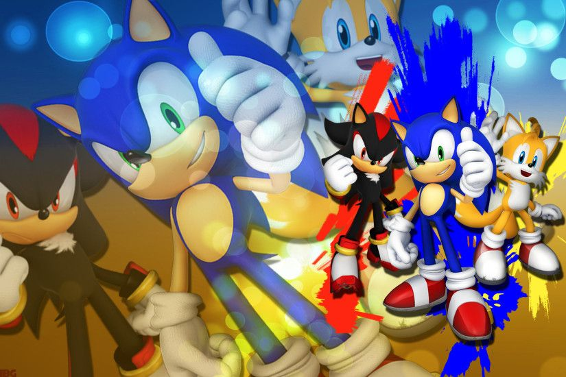 ... SonicTheHedgehogBG Sonic,Shadow And Tails - Wallpaper by  SonicTheHedgehogBG