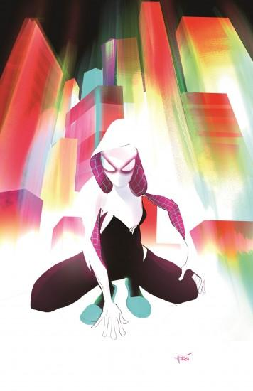 The cover for the first issue of Spider-Gwen makes a really good wallpaper.