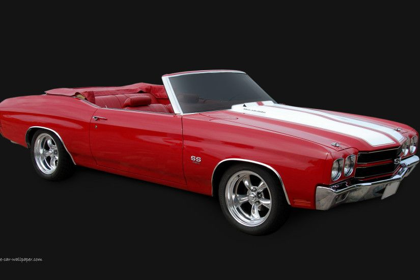1970 Chevelle SS Wallpaper - Red Convertible | 1920_05