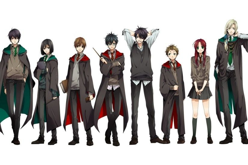 harry potter sirius black anime students gryffindor severus snape lucius  malfoy white background sly Art HD