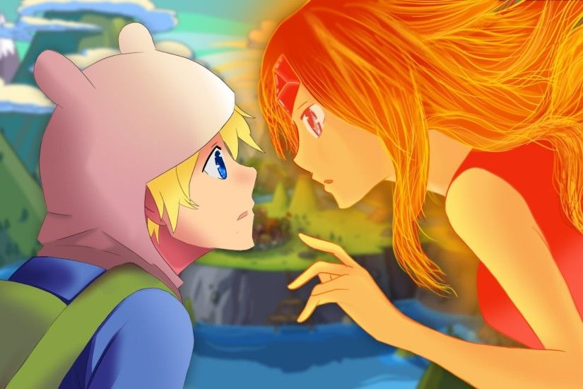 Adventure Time Speedpaint/ Speed Art Finn x Flame Princess | Wallpaper |  Brandon King Designs - YouTube