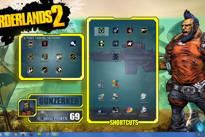 ... Borderlands 2 - Wallpapers Pack - Salvador UI by mentalmars