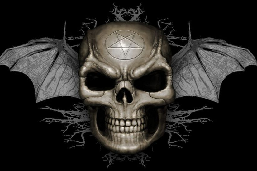 Evil skull bat wallpapers, HD Desktop Wallpapers