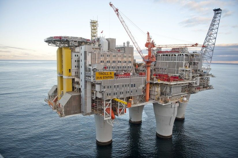 Shell Troll A - Natural Gas Platform | feats of engineering | Pinterest |  Amazing places