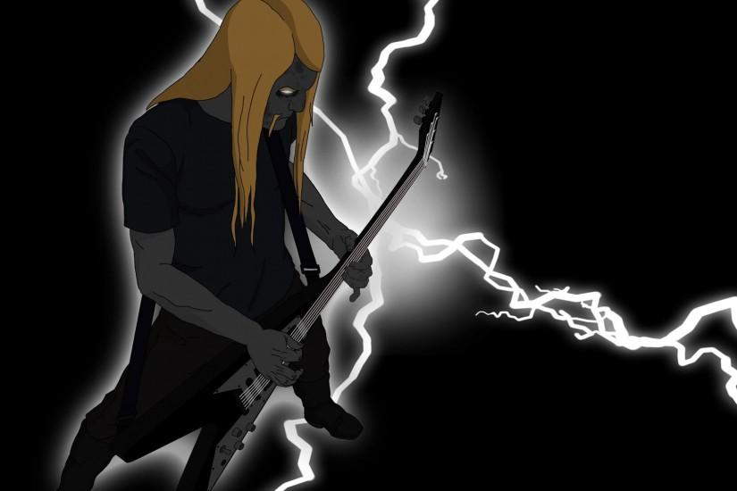 Dethklok heavy metal music cartoons hard rock band groups .