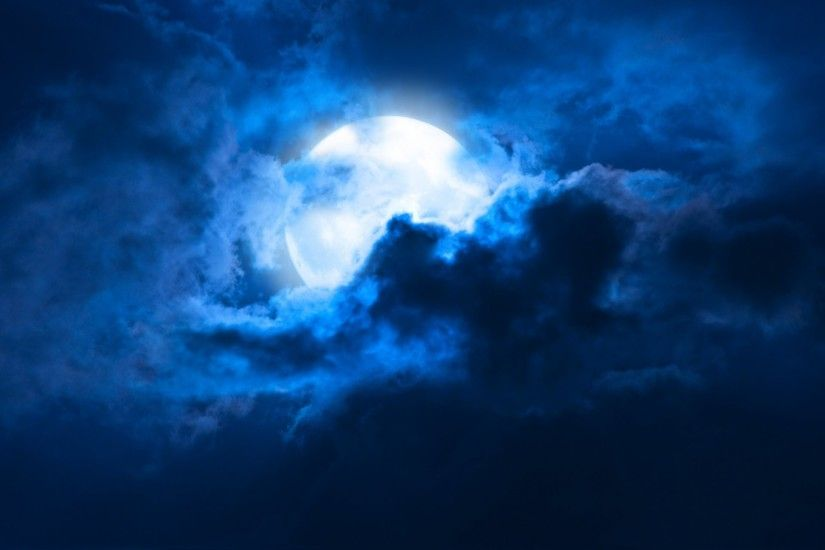 moon moonlight night midnight clouds cloudy night full moon sky landscape  moon moonlight night clouds cloudy