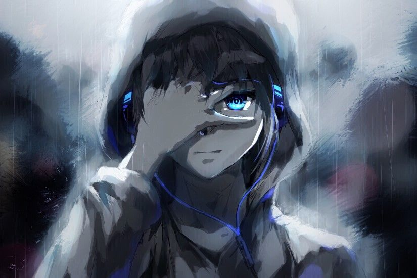 Anime Wallpaper 3000x1687 manga anime boys artwork fantasy art music  headphones
