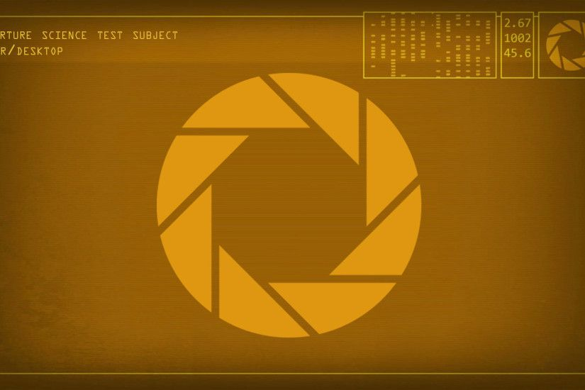 Thank you for downloading the Aperture Science Desktop Enrichment Wallpaper
