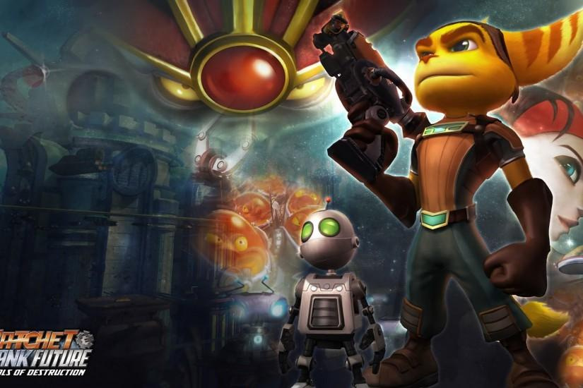 Ratchet And Clank Tools Of Destruction Psp Wallpaper
