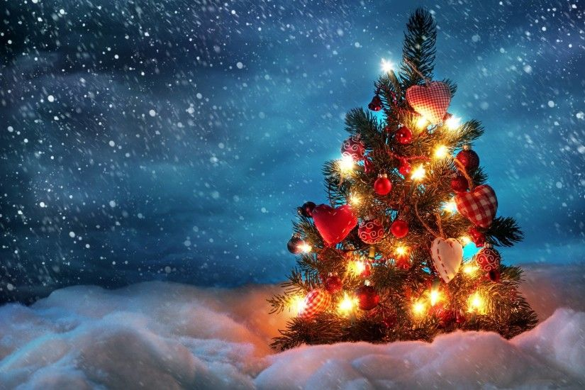 wallpapers for christmas lights snow desktop background