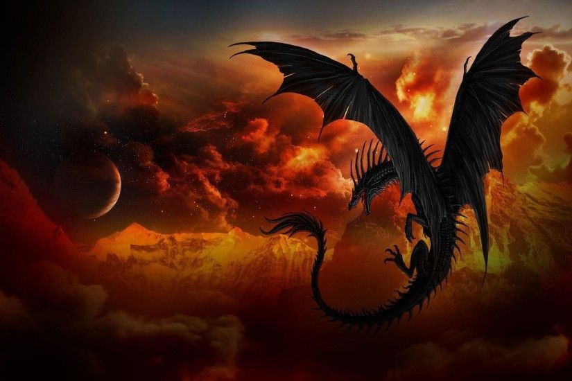 Wallpapers For > Black Dragon Wallpaper Hd 1080p
