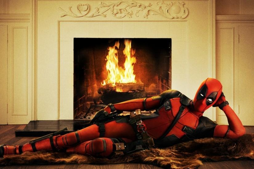 Deadpool, Ryan Reynolds, Movies, Fireplace Wallpaper HD