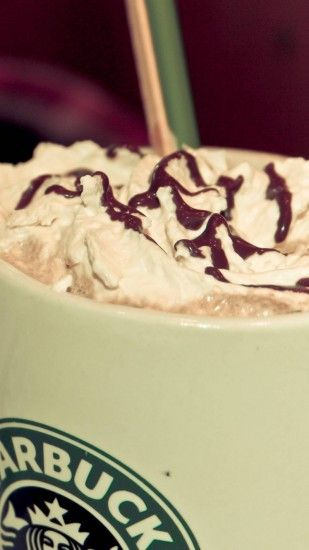 Starbucks Cup White Mocha Coffee Chocolate Syrup Cream Android Wallpaper ...