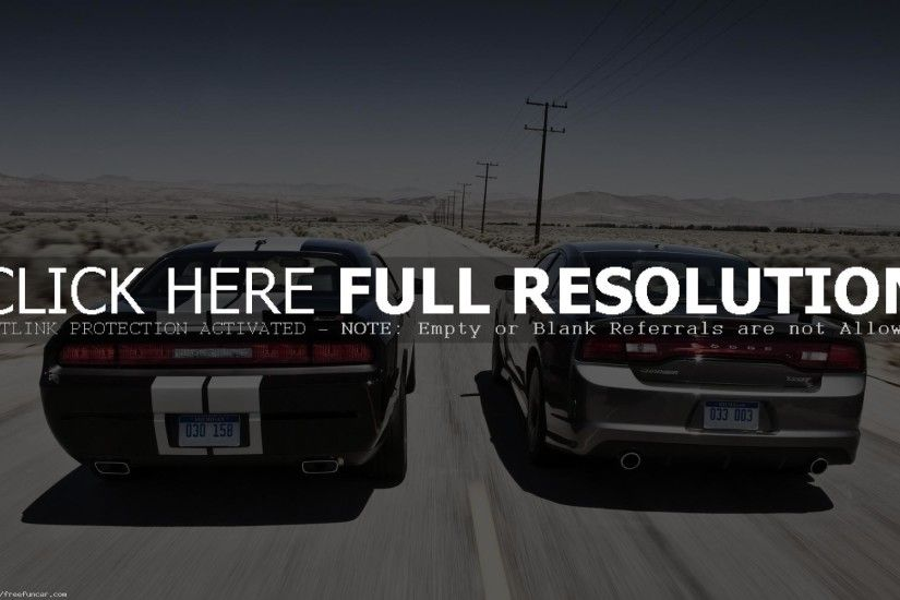 DODGE CHALLENGER SRT8 AND DODGE CHARGER RACING CAR WALLPAPER