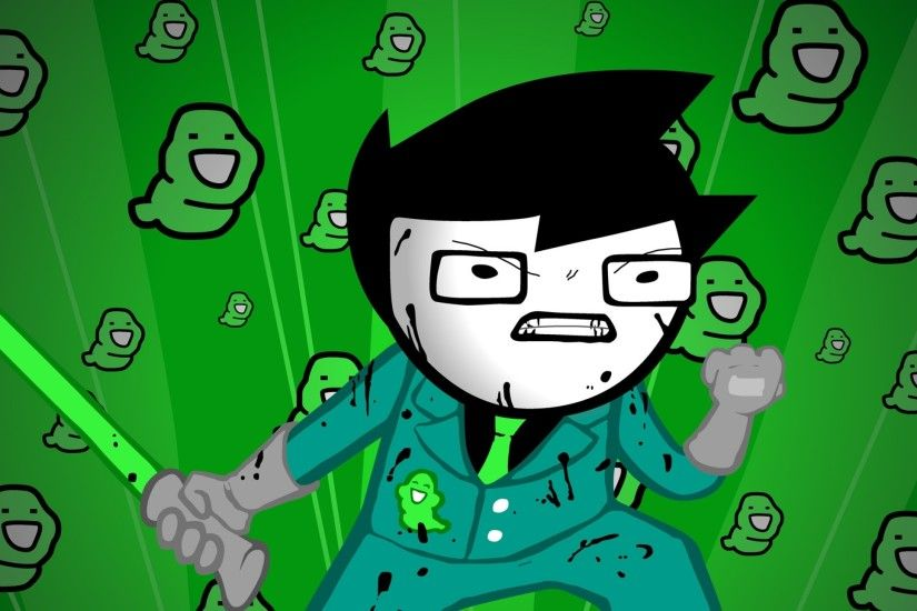 Preview wallpaper green, figure, aggression, style, homestuck 2560x1440