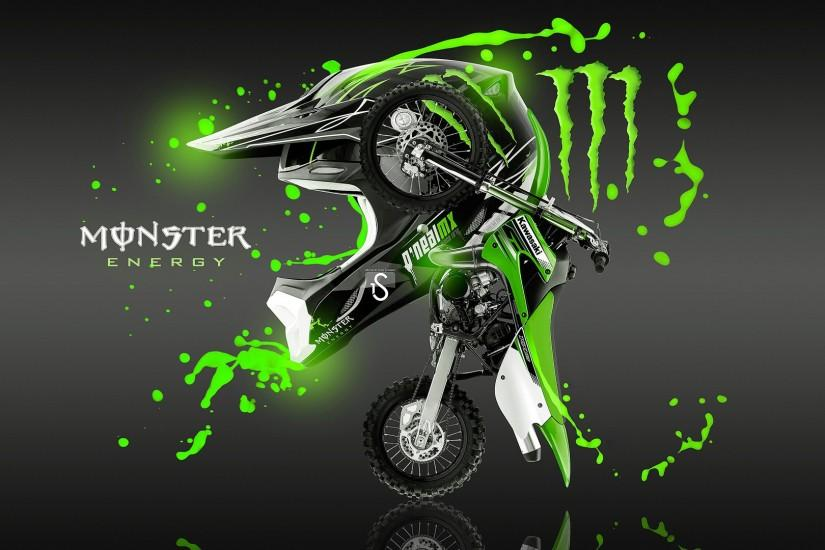 Kawasaki dirt bike monster energy wallpaper hd.
