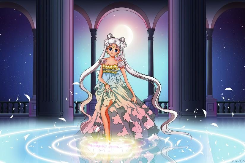 Dress gray hair kuzakawe maron moon sailor moon tsukino usagi twintails  wallpaper | 2560x1440 | 831373 | WallpaperUP