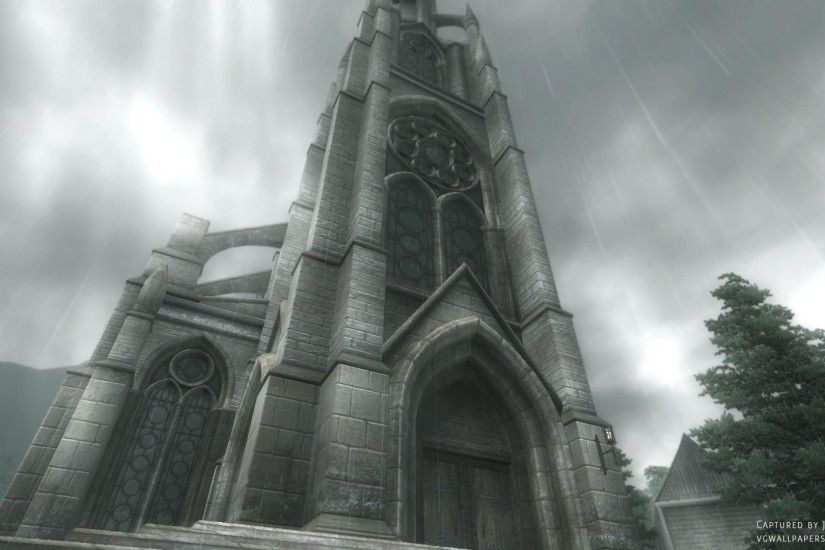 A chapel - a screenshot from The Elder Scrolls IV: Oblivion. Click image for
