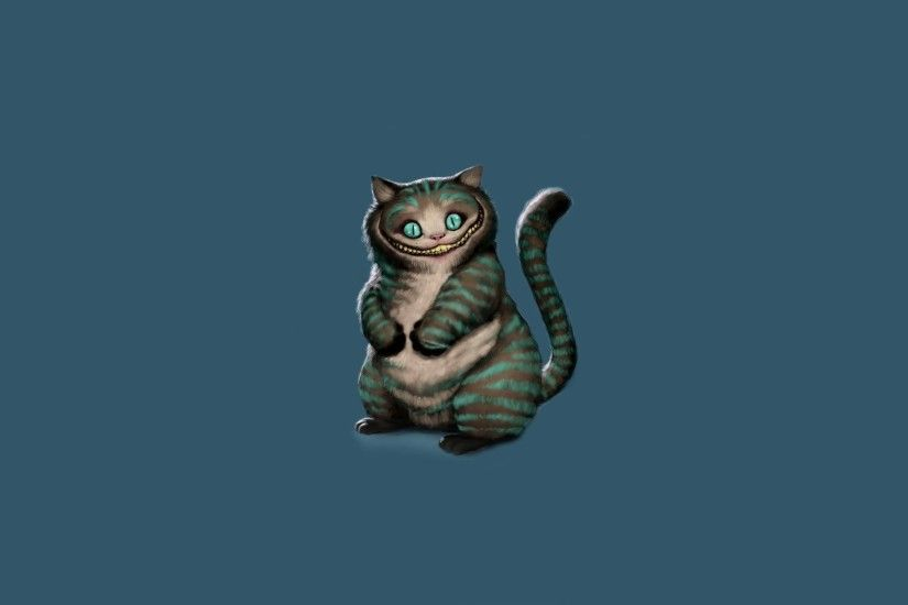 cheshire cat cheshire cat sitting alice in wonderland alice's adventures in  wonderland art minimalism blue background