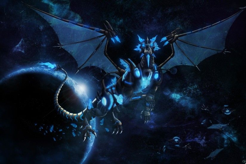 Wallpapers For > Blue Dragon Wallpaper Hd