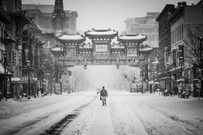 ... city, cityscape, asian, store, weather, lane, season, flake,  washington, trees, united states, temple, infrastructure, snapshot,  wallpaper, blizzard, ...