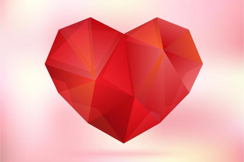 Red Heart Happy Mothers Day background vector free download
