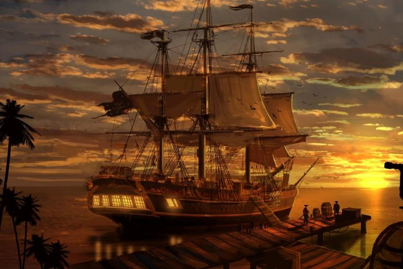 Pirate Ship Wallpaper