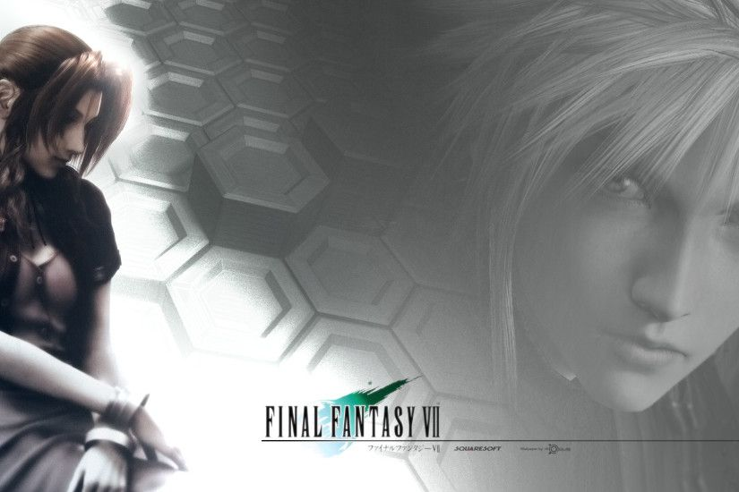 Tags: Anime, Final Fantasy VII, Aerith Gainsborough, Cloud Strife,  Honeycomb Pattern