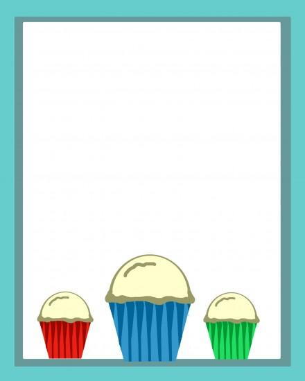 Color Cupcake Background