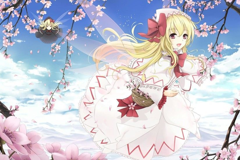 Anime girl, Japanese anime, ACG, The second element, Spring, Peach,