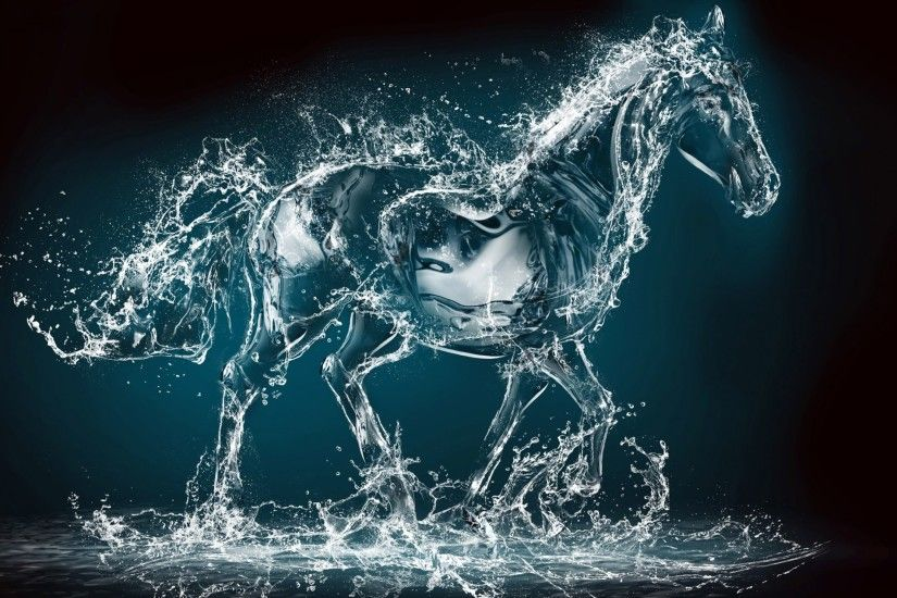 Water Horse Background