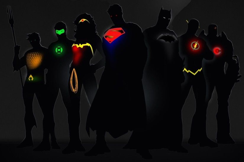 Justice League Superman Batman Wonder Woman The Flash Cyborg Green Lantern  Aquaman ...