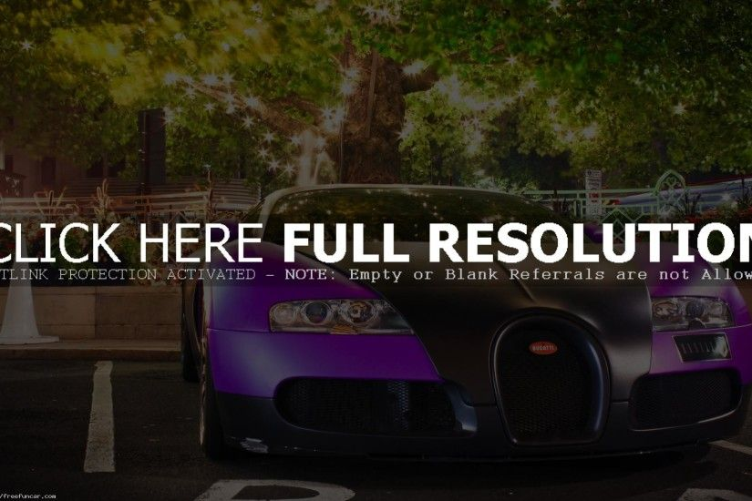 COOL PURPLE BUGATTI VEYRON WALLPAPER