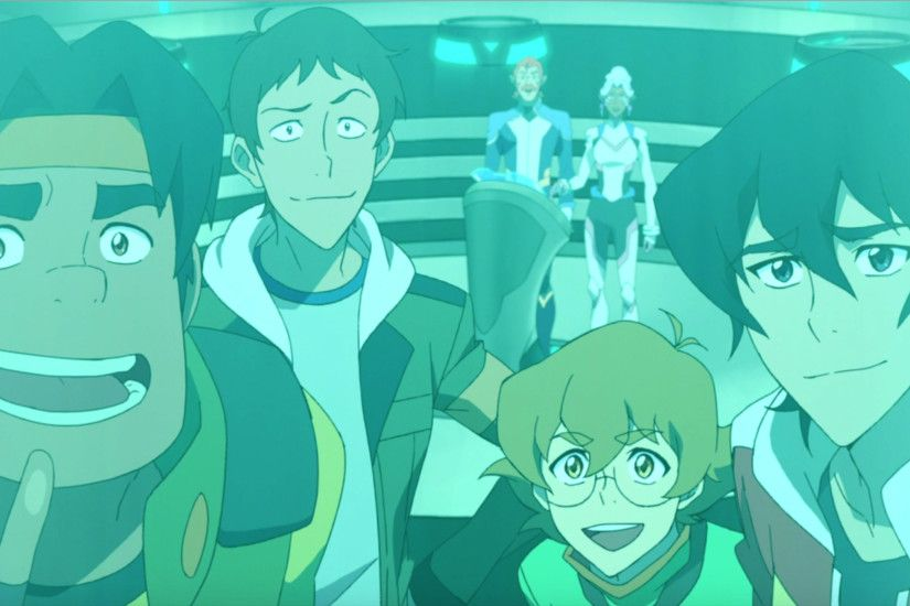Keith, Pidge, Lance, and Hunk happy to see Shiro awake from Voltron  Legendary