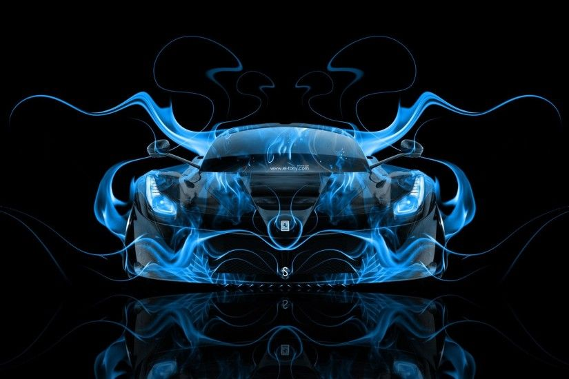 ferrari laferrari front blue fire abstract car 2014 hd wallpapers