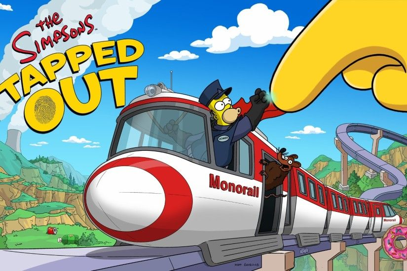 Tapped Out, The Simpsons, Homer Simpson, Train