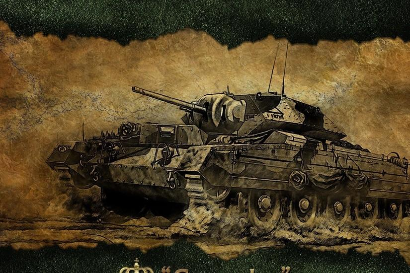 Preview wallpaper world of tanks, crusader, tank, game, figure 1920x1080