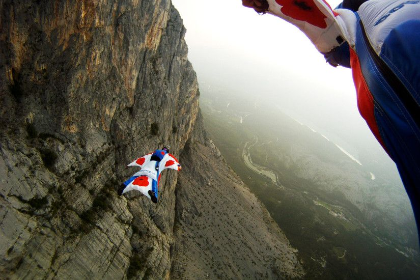 GoPro Wallpaper | WINGSUIT BASE JUMPING WALLPAPER
